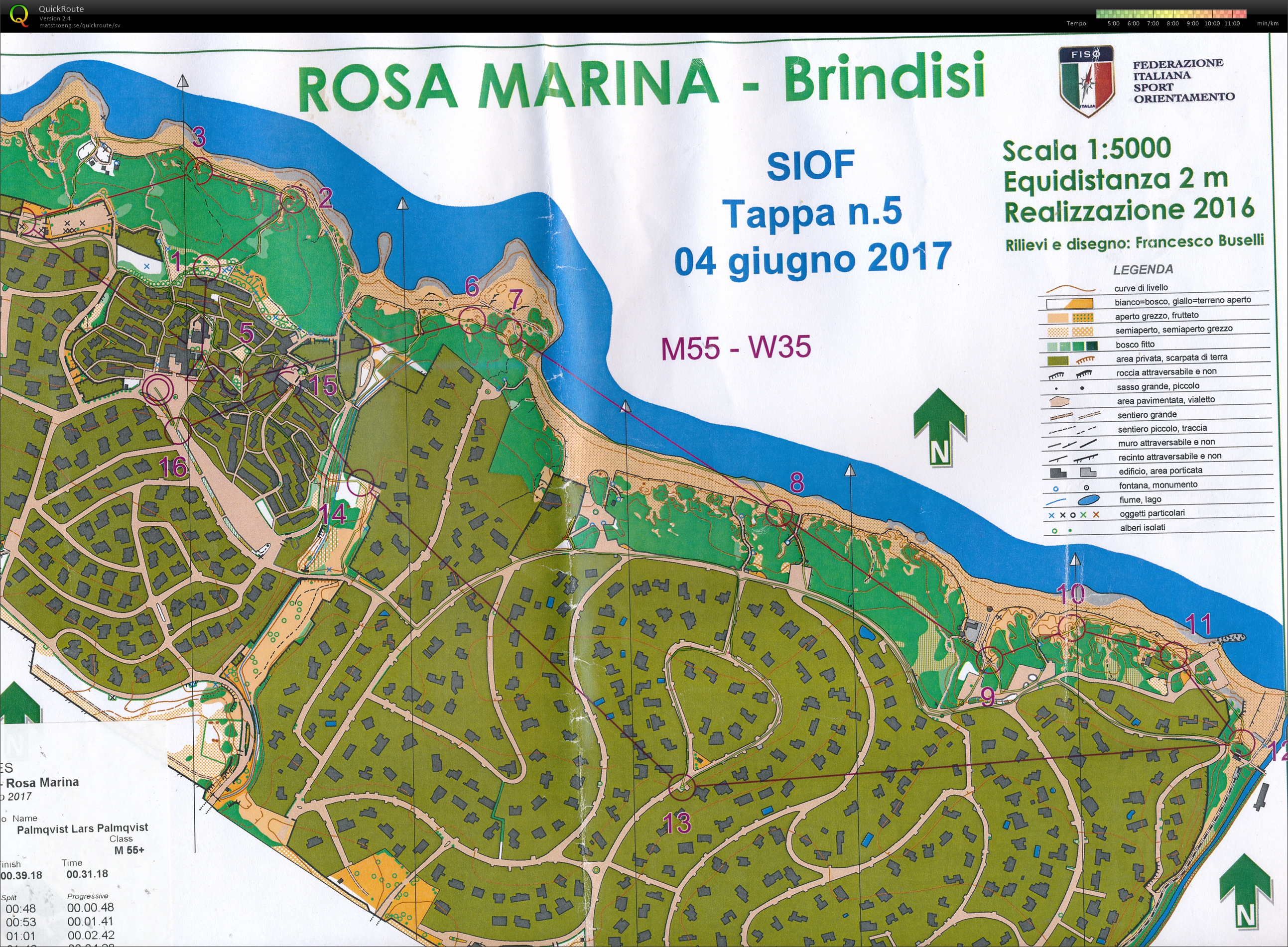 Southern Italy orienteering festival dag 6 (04/06/2017)