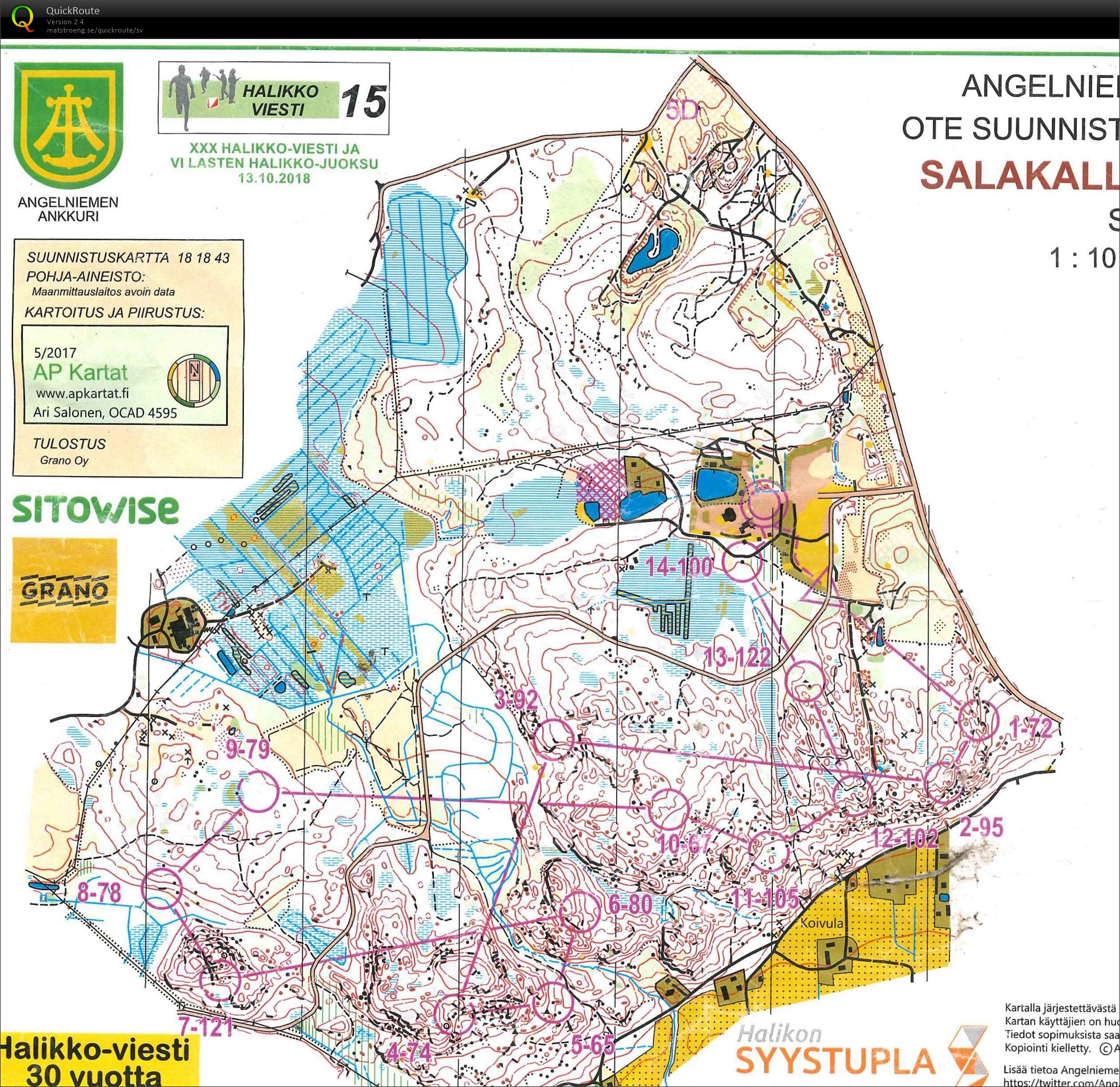 Halikko October 13th 2018 Orienteering Map From Lars Palmqvist
